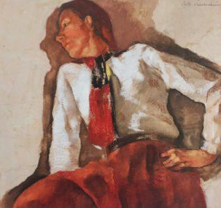 Foto des Gemäldes von Lotte Laserstein: Traute Rose mit Krawatte (um 1931). Foto: Carla Merken