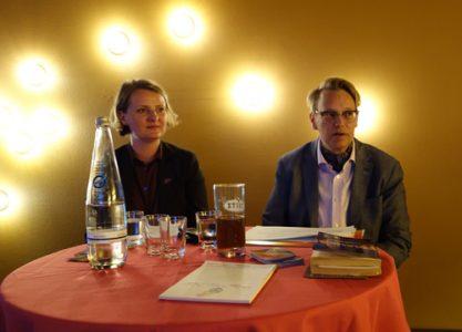 Foto mit Wirtschaftsweiber-Vorständin Steffi Grimm und Autorin Stephanie Kuhnen in Berlin am 25.04.2019
