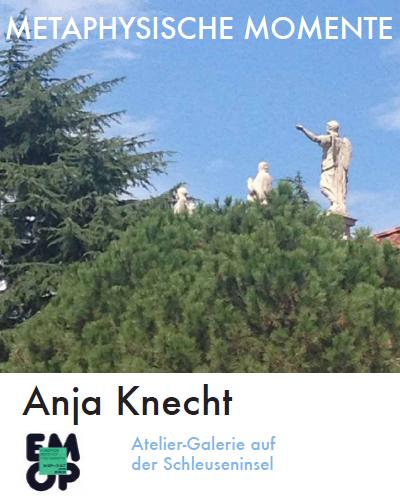 Ausstellung Metaphysische Momente der Künstlerin Anja Knecht - Cover der Einladung