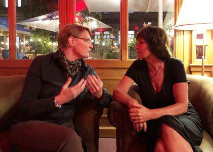 Wiebke mit Schirmherrin Katrin Sass
