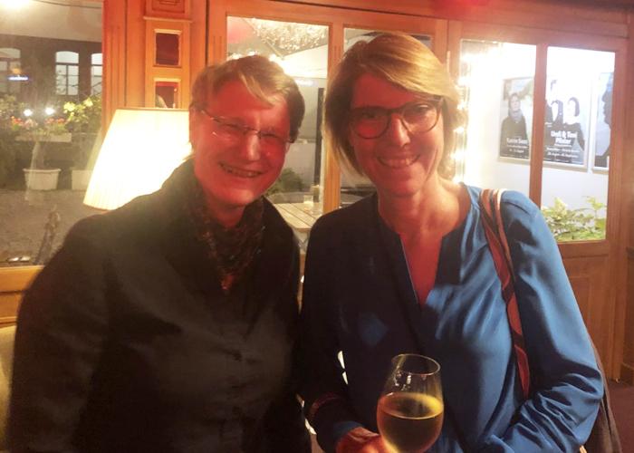 Wiebke mit Bettina Böttinger