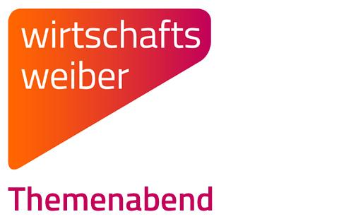 """Logo der Wirtschaftsweiber mit der Beschriftung """"Themenabend"""""""