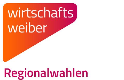 """Logo der Wirtschaftsweiber mit der Beschriftung """"Regionalwahlen"""""""
